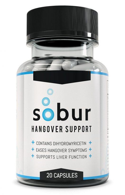 Sobur hangover cure bottle product shot