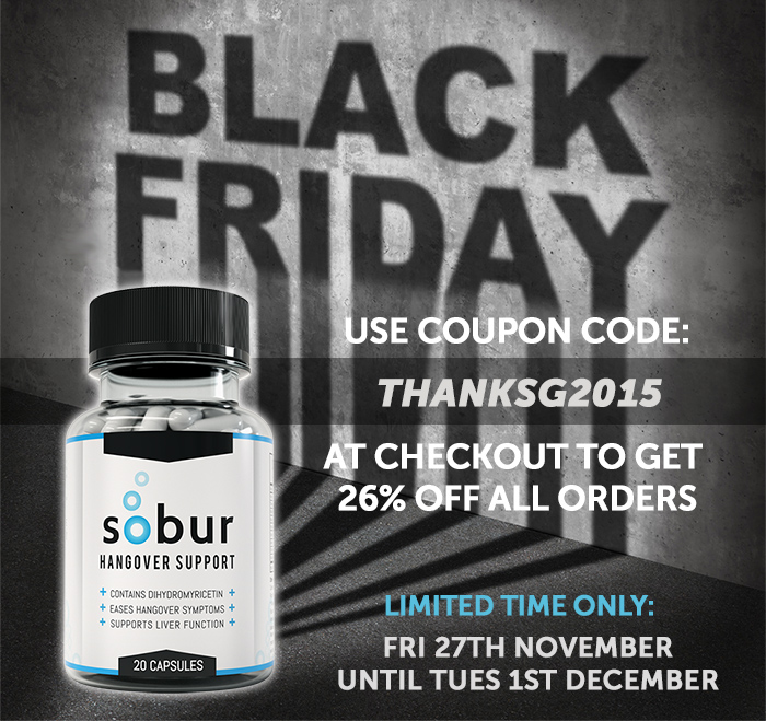 Hangover Cure Black Friday Sale 2015