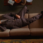 Don Draper Hungover At Work Napping to hide a hangover