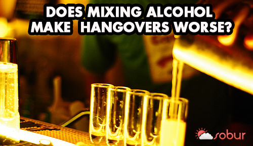 does mixing alcohol make hangovers worse?