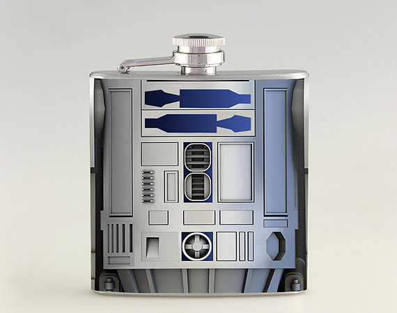 Star Wars R2D2 Whiskey Flask | Best Hip Flasks | Sobur Hangover Cure