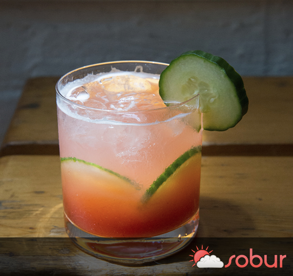 spiked agua fresca cocktail